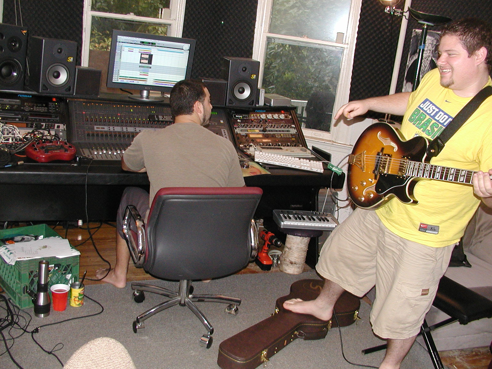 """""""Really, if I put my foot up it helps the overall tonality of the guitar"""""""